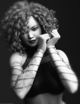 Curly Hair in Black and White by QuanticDementia