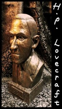 H.P. Lovecraft by zombiequadrille