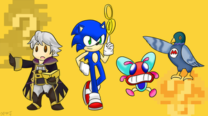 Robin, Sonic, Fighter Fly and Yamamura by Xero-J