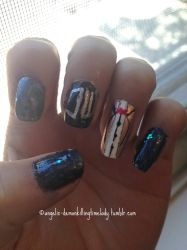 Eleventh Doctor Nails by LovePeaceHearts
