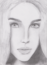 Unfinished portrait by D-ragonstone