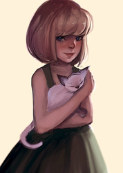 Cat by spaghettae
