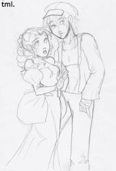 Ozian - Dorothy and Scarecrow by Tell-Me-Lies