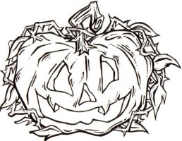 pumpkin tattoo outline by sadi3-g