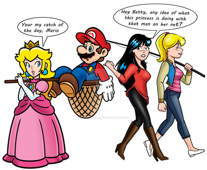 Mario of the Day (featuring.Betty and Veronica) by FamousMari5