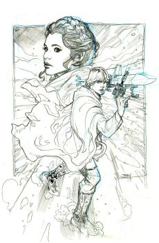 Star Wars 38 Cover Pencils by TerryDodson