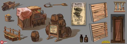 Wild West map concept -props by AnDary
