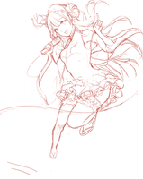 [PROCESS GIF] Kotori - collab with EndlessRz by TheCecile