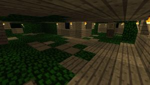 Minecraft Treehouse interior by Jhumperdink
