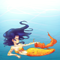 Mermaid Marinette by Clovercard