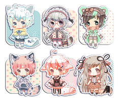 [CLOSED] Adoptables 10: LacePack Set~ by Sei-cchi