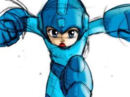 Megaman - Sketch by CheloStracks