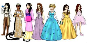 Ouat princess lineup by HollyRoseBriar