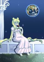 Thinking about you - Sailor Moon Fanart by KawaiiTsuyu