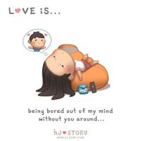 Love is... being bored by hjstory