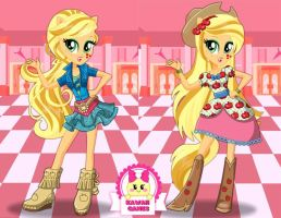 Applejack School Spirit Style Dress Up by heglys