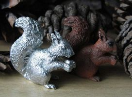 Pewter Squirrel by Psydrache