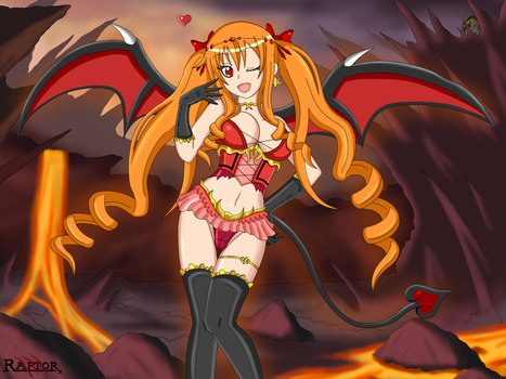 OC - Lilith the Succubus by raptorthekiller