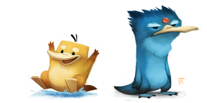 DAY 466. Kanto 054 - 055 by Cryptid-Creations