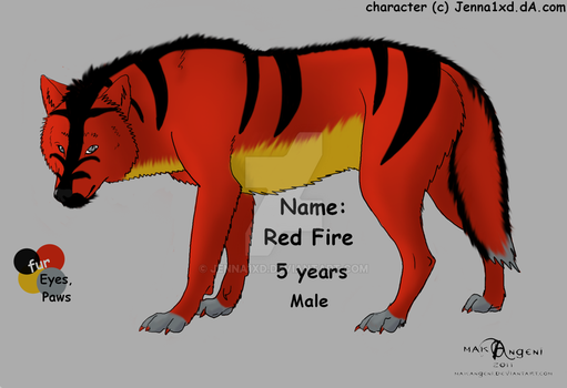 Char Sheet - Red Fire by Jenna1xD