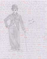 Charlie Chaplin as the Tramp by Joygon