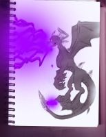 Dark Spyro Sketch Done by Igarax