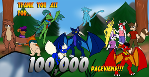 Thank you for 100,000 pageviews!!! by Ryusuta