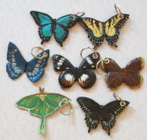 Butterfly Keychains 8-11-2010 by Angelic-Artisan