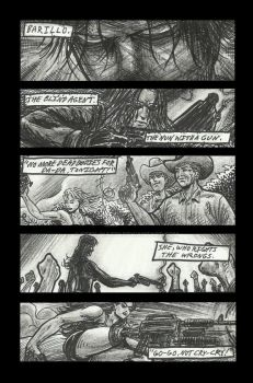 Los Hooligans comic book rough sketch pg2 (of 2) by StevJVaz72