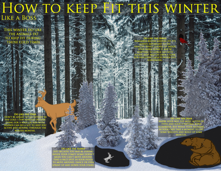 [Adobe Illustrator] Winter Workout Infographic by EliniLinxfoot