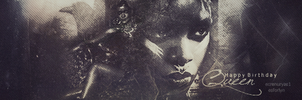 Banner/ Happy Birthday Queen by esforlyn-rowa