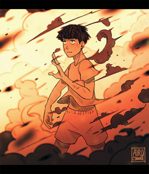 Mob Psycho 100: Playing with fire by Auro-Cyanide