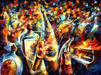 Bottle Band by Leonid Afremov by Leonidafremov