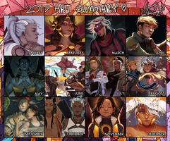 2017 art summary by Dotswap