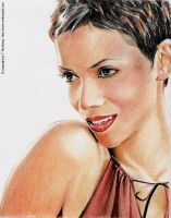 Halle Berry Portrait by tomjogi