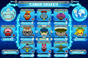 [Mighty No.9] Stage Select mock-up by Availation