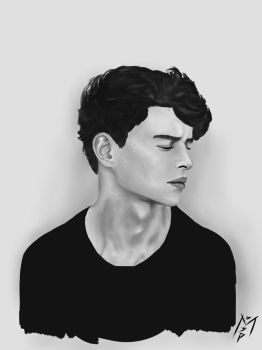 Thoughts in Black and White - Photo study by secretpaintinM