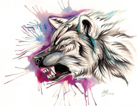 Snarling Wolf Design by Lucky978