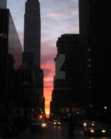 Empire State Building Sunrise by peterkopher