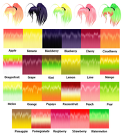 MMD Fruit Hair Texture by Xoriu