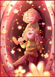 UnderTale Chara And Asriel by ColdheArts17