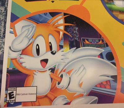E3 2017 Sonic Mania Poster - Tails by aoi-watarimono