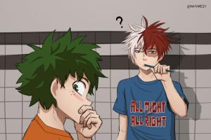 [Tododeku] Is there something on my face? by whymeiy