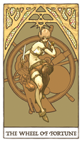 Tarot - Wheel of Fortune (WIP) by Jacinthe
