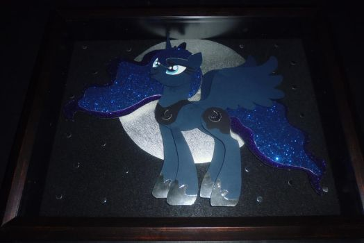 Princess Luna Shadowbox by vikingerik78