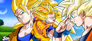 Goku SSJ Aniversary 30TH by SaoDVD