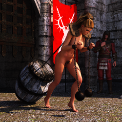 Pillory Challenge 2 - Weight by Dracis3D