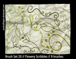 BrushSet20 - Flowery Scribbles by punksafetypin