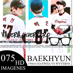 150616 Hanwha Vs Wyverns - Baekhyun by valeriaaeditions