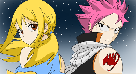 The Dragon and the Princess (NaLu FanArt) by IceonFlame